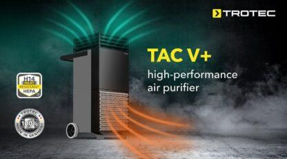 Efektiivne viirusefiltreerimise süsteem õhupuhastaja Trotec Tac V+