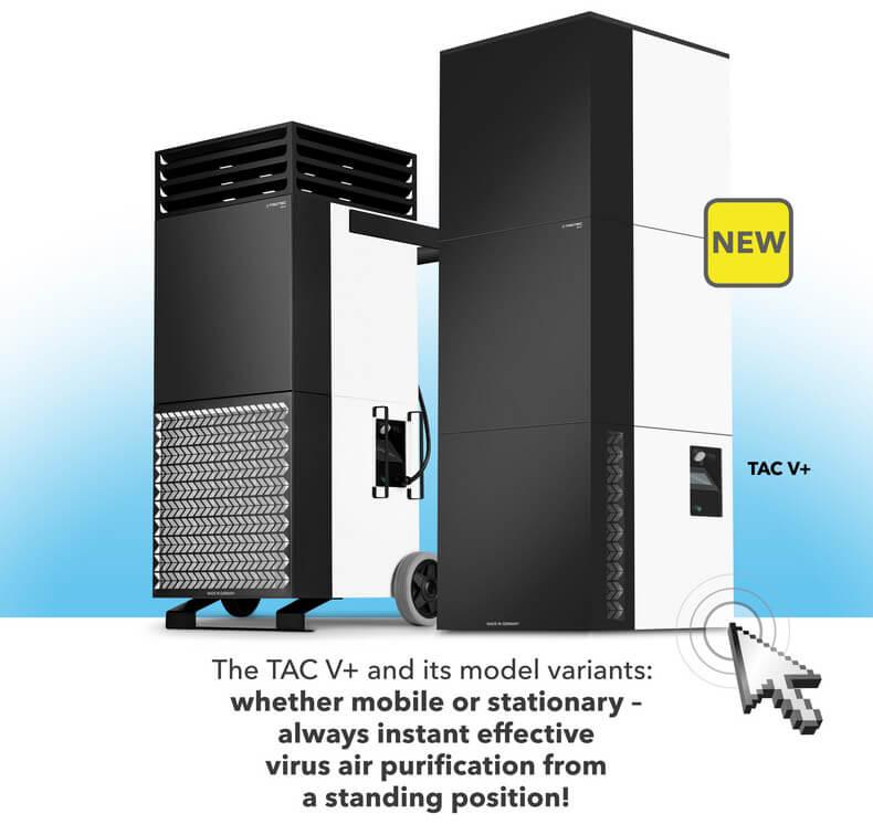 suure jõudlusega õhupuhastiaja trotec Tac V+